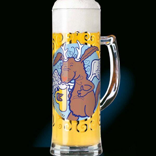 Produkt-Dekor für ein Bier-Seidel, Ritzenhoff