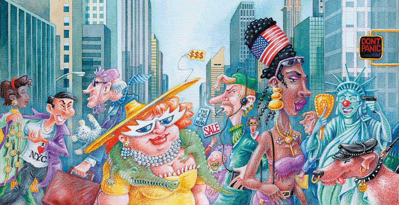 Illustration Supertrabi New York Manhattan Hans Christian Sanladerer