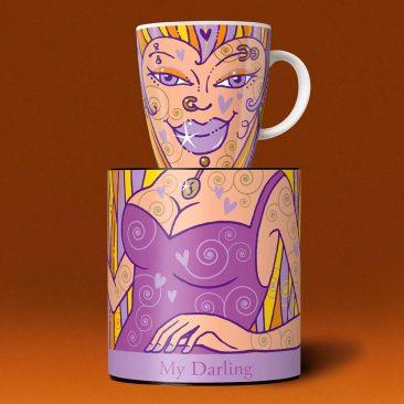 Produkt-Dekor, Porzellan-Kaffee-Tasse, My Darling, Ritzenhoff