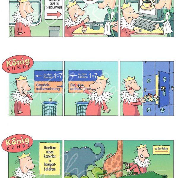 """Cartoon-Serie für """"Markt & Reise"""", Kunden-Magazin der Deutschen Bahn"""