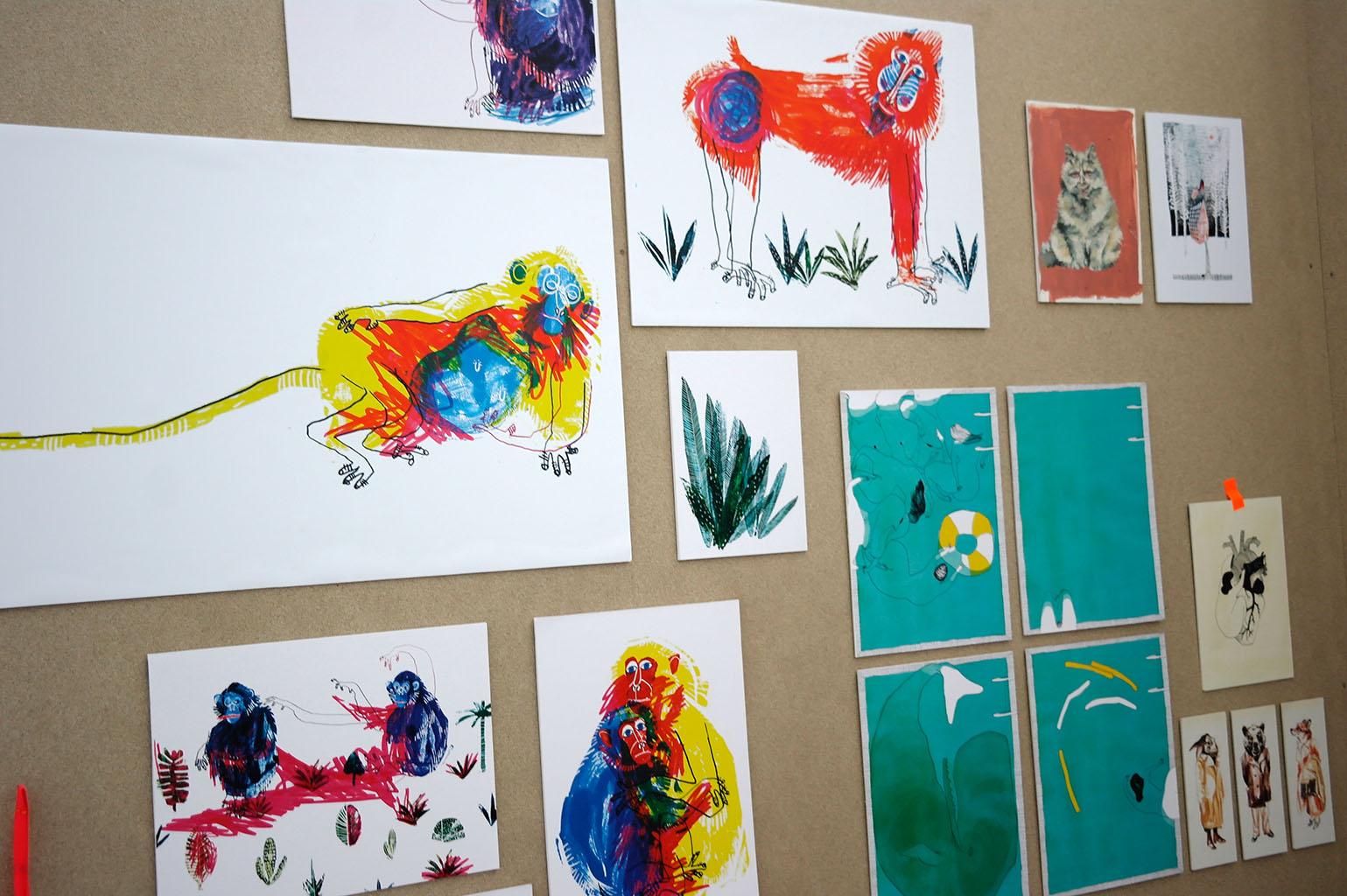 illu16-illustratoren-festival-köln-affen-skizzen-hans-christian-sanladerer