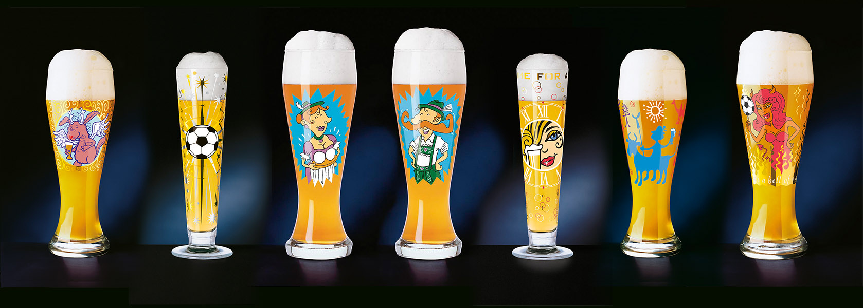 Pils- und Weizen-Gläser, Produkt-Dekore für Ritzenhoff