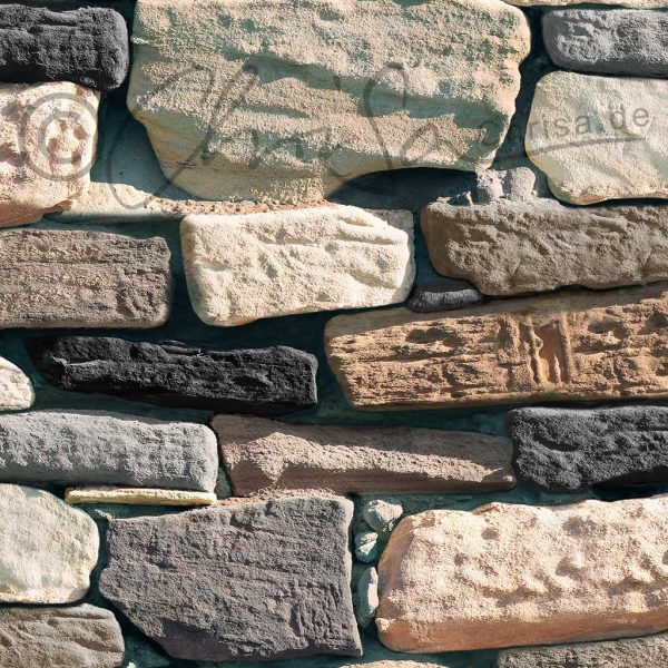 Tapeten-Design, Steinmauer, Art Show, China