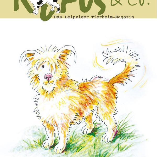 Illustration für das Leipziger Tierheim-Magazin, Logo-Entwicklung, Illustration für die Werbung