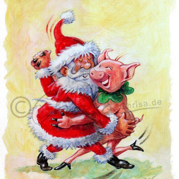 Weihnachtskarte, Eigenwerbung