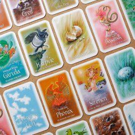 Illustrationen für Verlage, Illustration und Design von Spielkarten für das Vogelorakel, Droemer Knaur Verlag